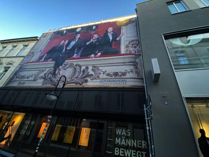 Fassadenwerbung, Großformatdruck